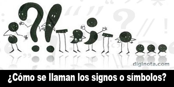 como se llama este signo o simbolo, nombre de signos y símbolos