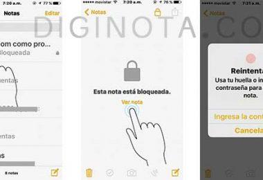 abrir notas bloquea con clave o contraseña iPhone o iPad