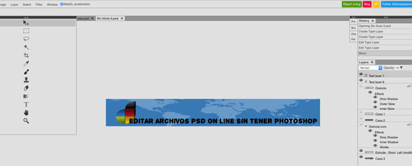 Editar Archivos PSD sin Photoshop on-line