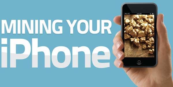 fiebre-del-oro-phone (oro reciclando iPhone)