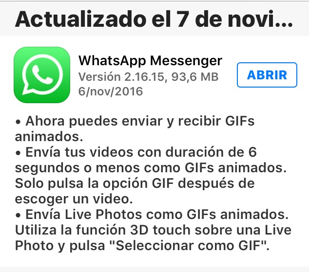 GIFs animados WhatsApp