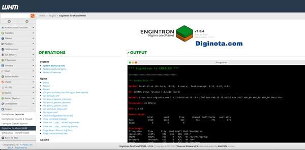 Nginx los mejores módulos para cPanel y WHM