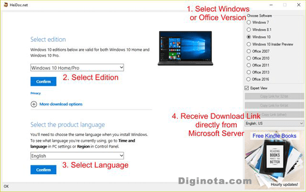 descarga gratis ISOs oficiales de Windows y Office