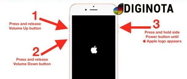 Force Restart or Hard Reset iPhone 8