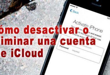 eliminar iCloud