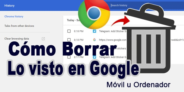 Photo of Como borrar lo visto en google hoy valido en PC y Celulares