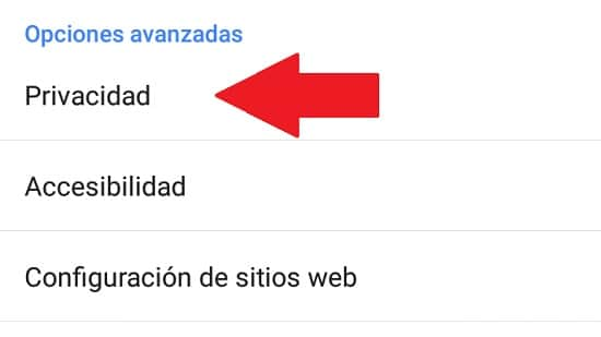 como borrar historial google en android