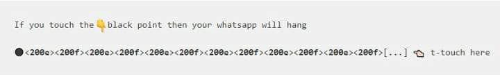 como funciona el botón negro de whatsApp no tocar que te bloquea el móvil