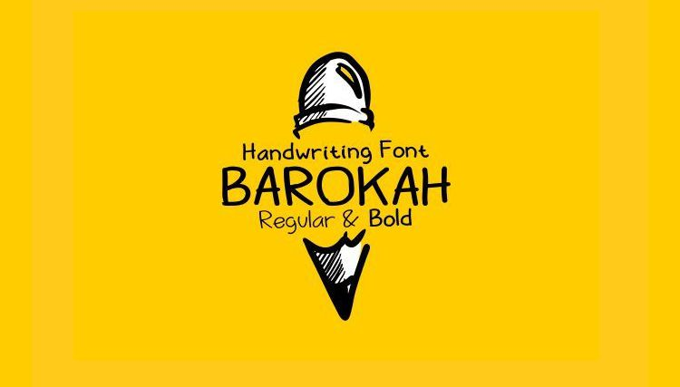 Barokah Uppercase font free Lowercase Display