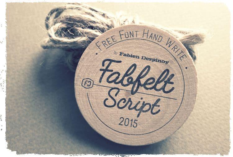 Fabfelt Handwritten Script free font