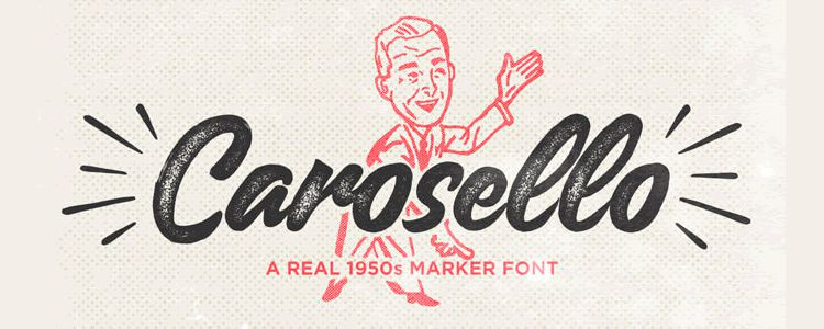 Carosello free handwritten Font