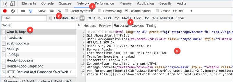ver cabeceras http en google chrome