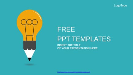Plantilla de PowerPoint gratis bombilla de dibujos animados