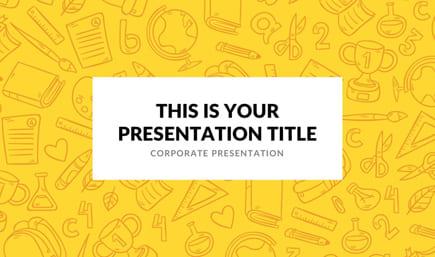 Plantilla de PowerPoint colorida escuela tema