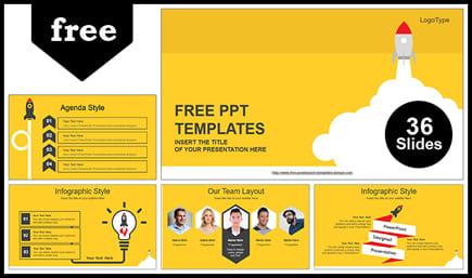 Tema de educación de plantillas de PowerPoint gratis