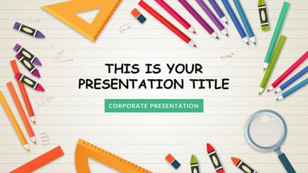Plantilla de PowerPoint gratis para la escuela