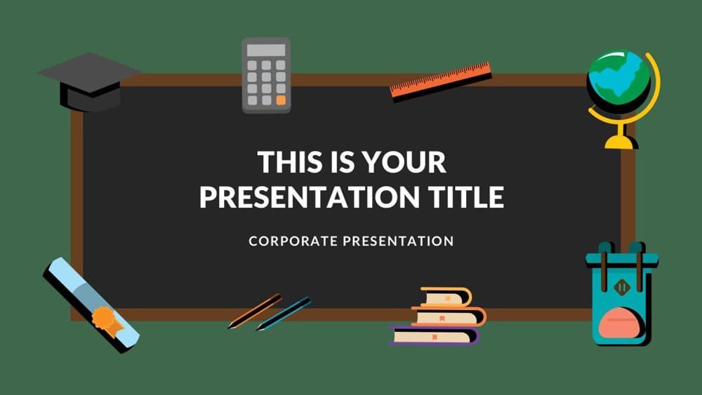 Tema de graduación de plantilla de PowerPoint gratis