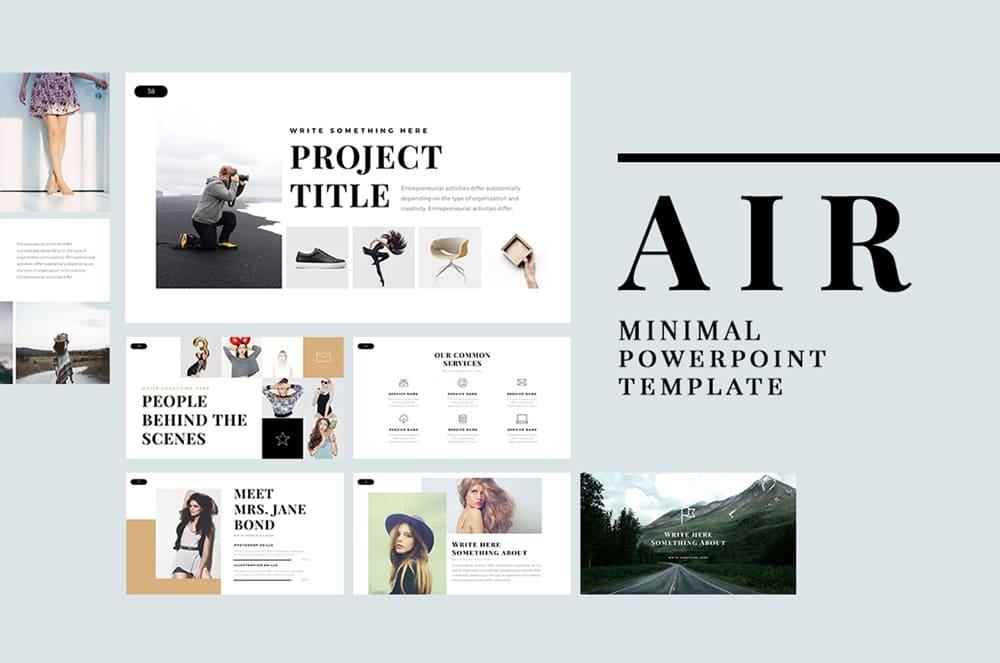 Plantilla de PowerPoint estilo minimalista