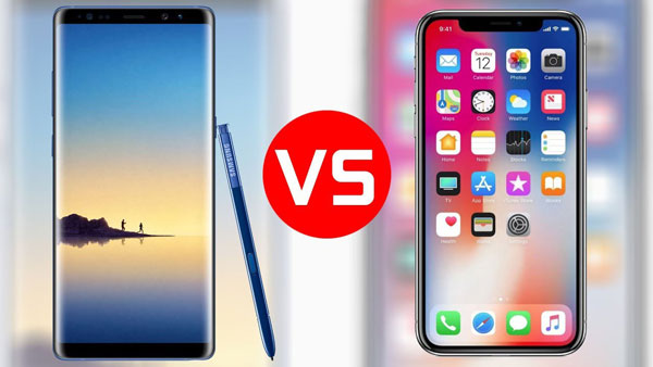 note 9 vs iPhone x