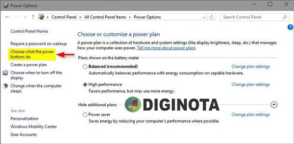 activar o desactivar el inicio rápido en Windows 10 paso 1