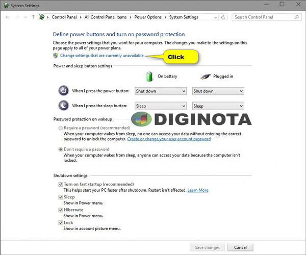 activar o desactivar el inicio rápido en Windows 10 paso 2