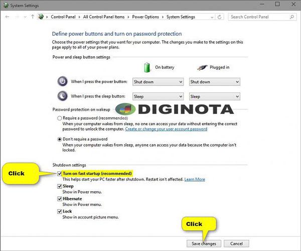 activar o desactivar el inicio rápido en Windows 10 paso 3