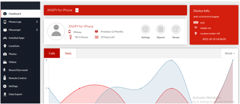 XNSPY – La app que le da el paquete total para espiar un iPhone 1