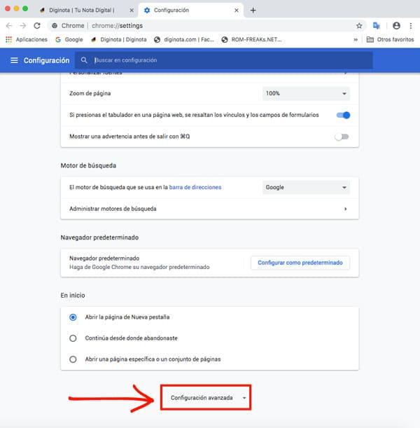 Como Activar o desactivar la aceleración de hardware en Google chrome