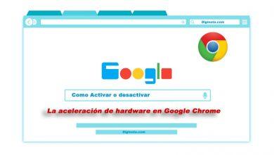 Como hago para Activar o desactivar la aceleración de hardware en Google chrome