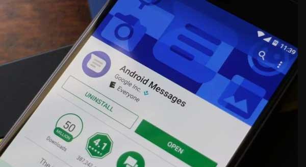 mensajería android efectos