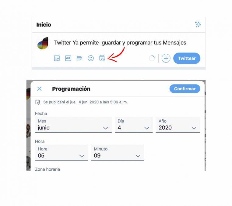 Programar twitter mensajes