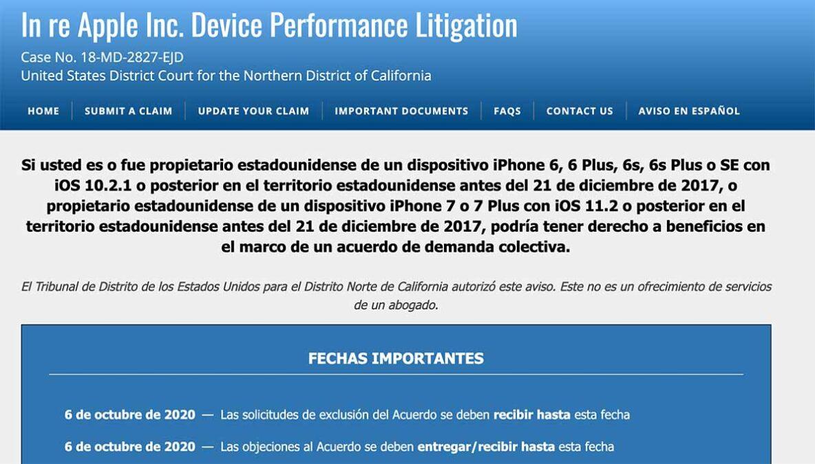 Cómo solicitar a Apple el pago que debe hacer a los dueños de iPhone 6, 7 y SE #batterygate 2