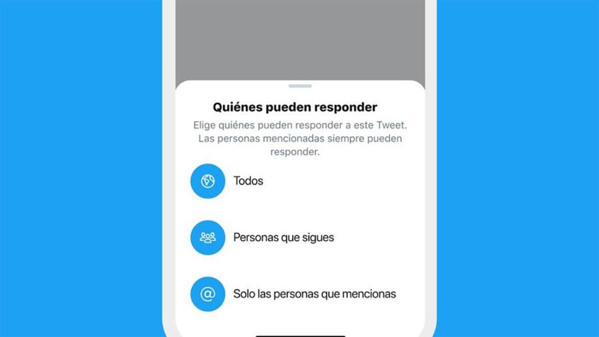 funcionalidad que permitiría a los usuarios controlar quién puede responder sus tuits