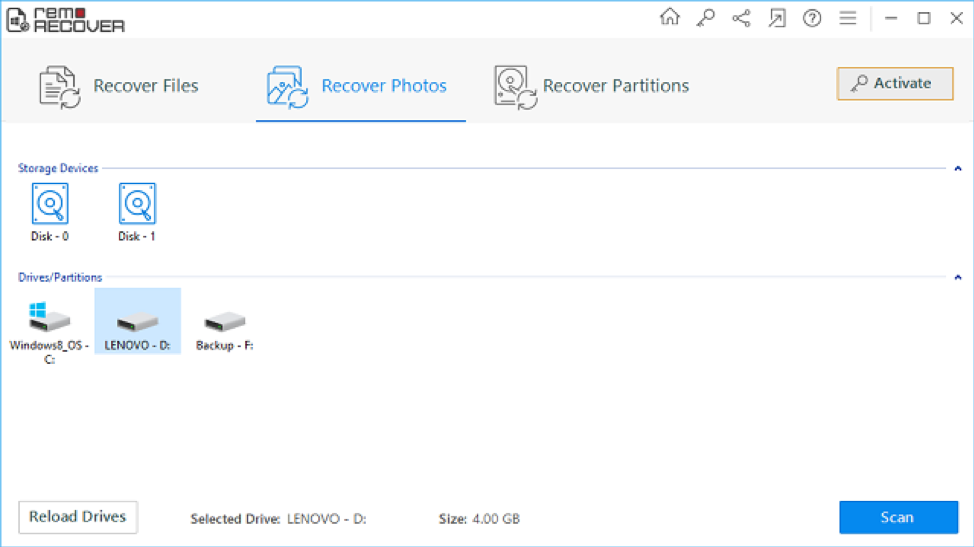 Remo recovery software