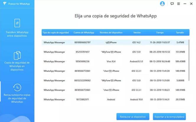 Cómo transferir datos de WhatsApp entre dispositivos iPhone y Android o viceversa? 3
