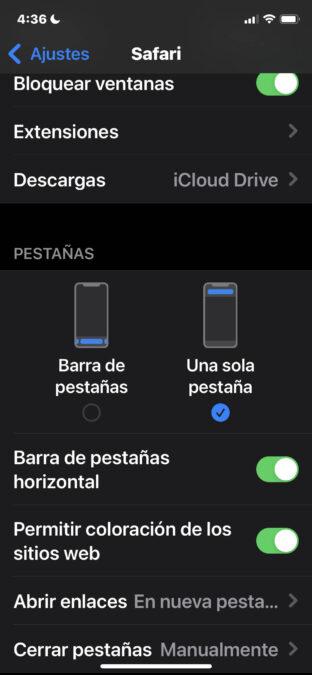 Tienes el iOS 15 y no te gusta la barra de safari en la parte de abajo, puedes devolverla donde estaba. 1
